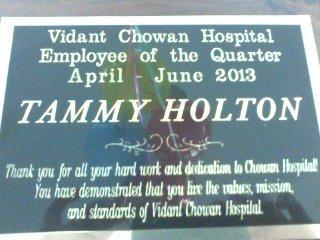 Congratulations, Tammy Holton