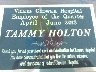 Congratulations, Tammy Holton
